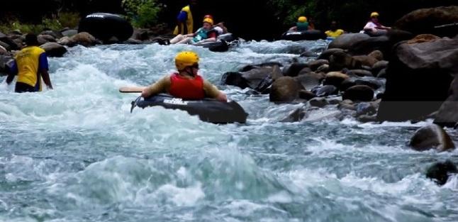 Dominica river tubing